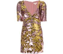 sequin embellished fitted dress