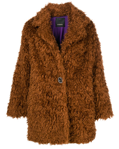 Overisized-Mantel aus Faux Fur