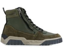 High-Top-Sneakers mit Netz-Overlay