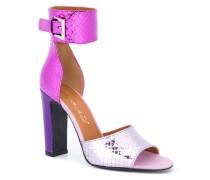 colour block snakeskin effect sandals