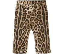 Chino-Shorts mit Leoparden-Print