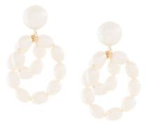 Mini 9kt 'Coco' Gelbgoldohrringe mit Perlen