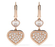 18kt 'Happy Hearts' Rotgoldohrringe