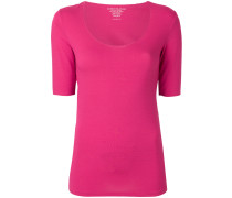 U-neck slim T-shirt