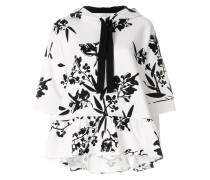 floral print short sleeve hoodie