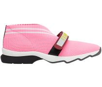 Perforierte Sneakers mit Klettverschluss