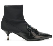 Sock-Boots mit Pfennigabsatz