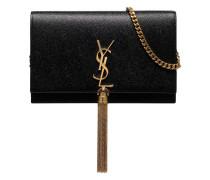 Black Kate leather tassel shoulder bag