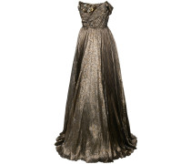 Metallic-Abendkleid