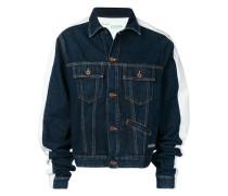 Jeansjacke mit Oversized-Ärmeln