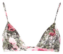 poppy print triangle bra