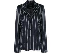 striped frayed blazer