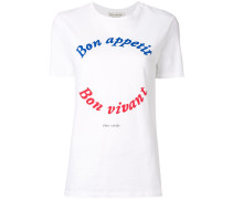 "T-Shirt mit ""Bon Appetit""-Aufschrift"
