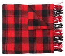 Karierter Schal mit Fransen