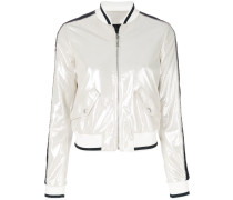 metallic bomber jacket