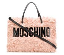 Shearling-Handtasche mit Logo