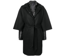 layered single breasted coat
