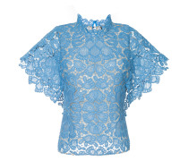 floral lace shortsleeved top