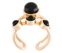 Vergoldeter 'Lava' Ring mit Onyx