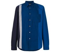 colour-block fitted shirt