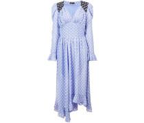 Asymmetrisches Kleid mit Sterne-Print