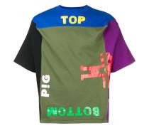 Kastiges T-Shirt in Colour-Block-Optik