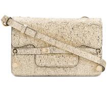 gold-toned square shoulder bag
