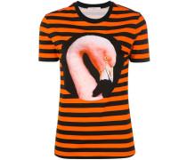 T-Shirt mit Flamingo-Print