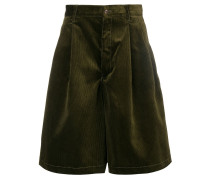 courderoy wide leg shorts