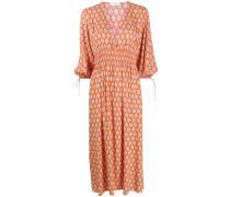 'Roche' Kleid mit V-Ausschnitt