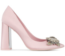 Pink lilico 105 satin pumps