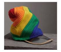 Rainbow Wool Cashmere Peaked Beanie 19890 - Unavailable