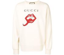 Sweatshirt mit Mund-Print