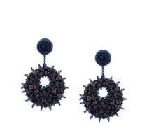beaded crystal disk earrings