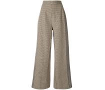 Tweed-Hose mit hohem Bund