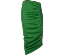 side stripe ruched skirt