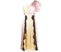 Plissiertes One-Shoulder-Kleid