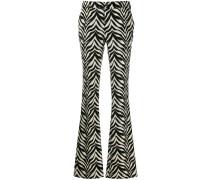 Ausgestellte Hose mit Zebra-Streifen