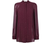 Verzierte Bluse mit plissiertem Design