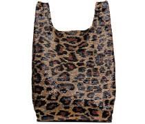 Großer Shopper mit Leopardenmuster