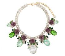 Rosen-Halskette mit Kristallanhängern