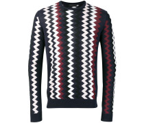 zig-zag print sweater