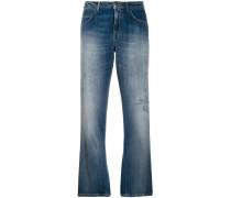 Cropped-Jeans mit Pailletten