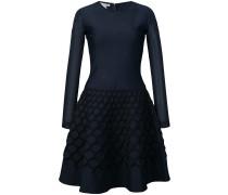 net jacquard knit dress