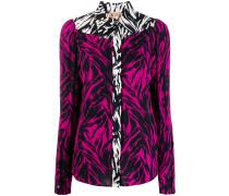 contrast trim zebra shirt