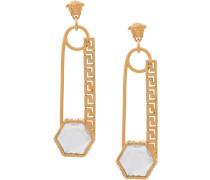 Sicherheitsnadel-Ohrringe mit Perlen