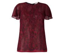 T-Shirt mit floraler Spitze