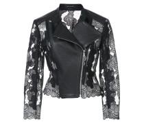 panelled moto jacket