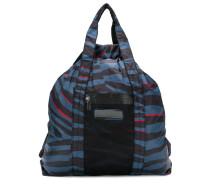 animal stripe-style tote bag