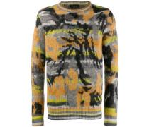 Jacquard-Sweatshirt mit Print